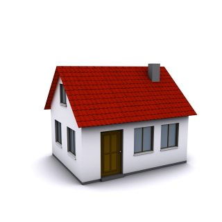 Bigstock-A-small-house-with-red-roof-on-15572780